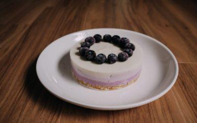 [食譜] 漸層藍莓生乳酪蛋糕(免烤箱)