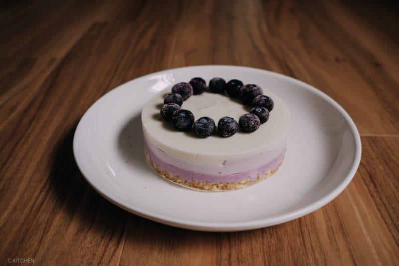 漸層藍莓生乳酪蛋糕(免烤箱)